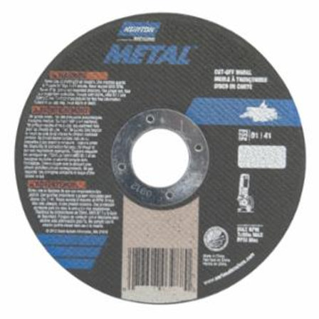 Metal Wheel, 4 1/2 in Dia, .04 in Thick, 7/8 in Arbor, Aluminum Oxide
