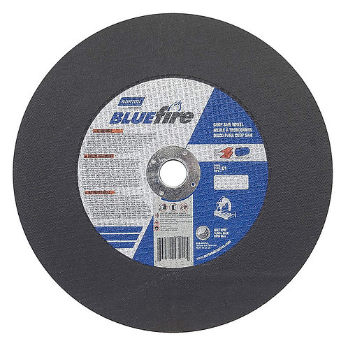 "4"" Type 1 Zirconia Alumina Abrasive Cut-Off Wheel, 3/8"" Arbor, 0.035""-Thick, 19,"