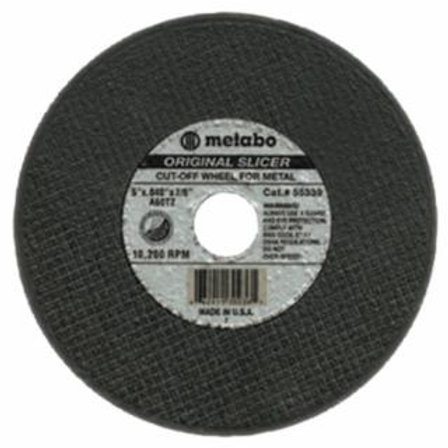 Slicer Cutting Wheel, Type 1, 4 1/2 in Dia, .04 in Thick, 60 Grit Alum. Oxide