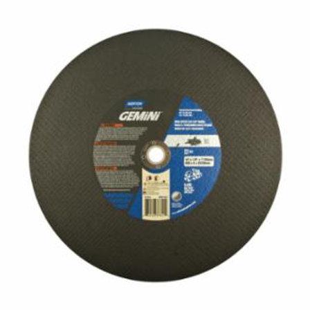 Gemini High Speed Cut-Off Wheels, 14 in, 1 in Arbor, 24 Grit, Aluminum Oxide