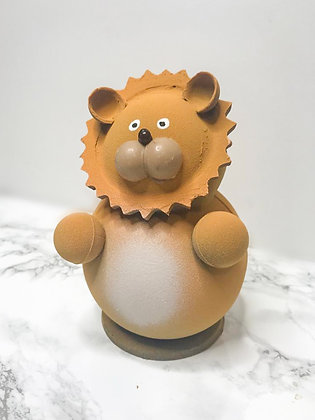 Leo figura de chocolate