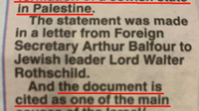 SCOTTISH PAPER PROMOTES PALESTINIAN NARRATIVE ON BALFOUR