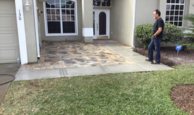 Front Patio Pavers