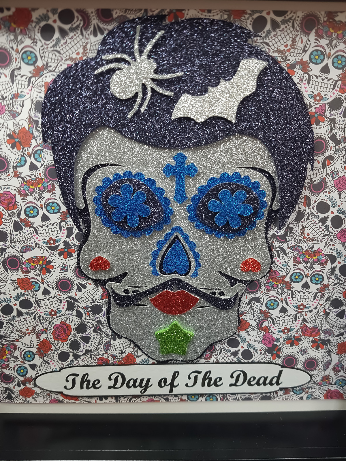 Day Of The Dead Día De Los Muertos Male Sugar Skull Box Frame