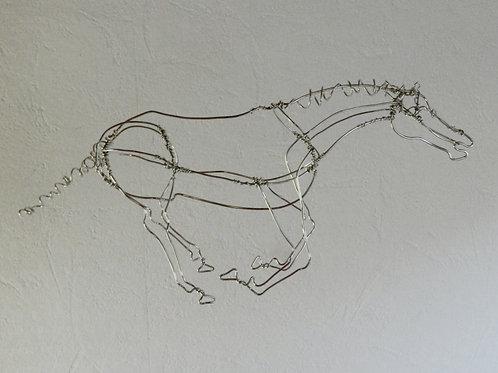 Animaux en fil de fer - Cheval au galop B (en fil brillant)