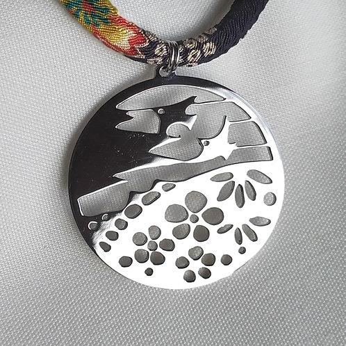 "Pendentif ""Natsukashi-Oiseaux"" (inox), pendentif japonais"