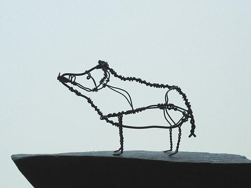 Animaux en fil de fer - Sanglier (en fil noir)