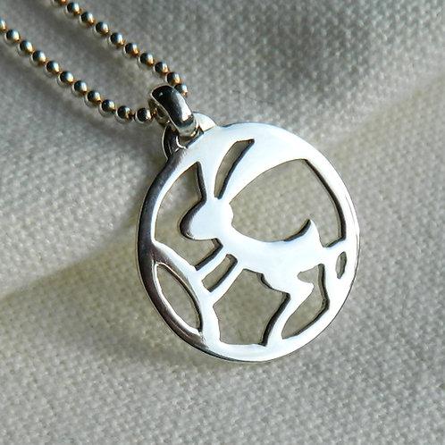 "Pendentif -Mangetsu ""Lapin"", pendentif japonais"