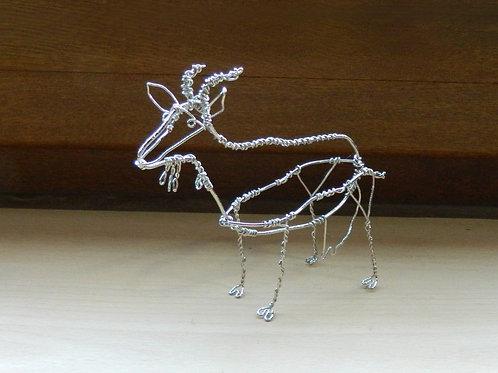 Animaux en fil de fer - Chèvre (en fil brillant)