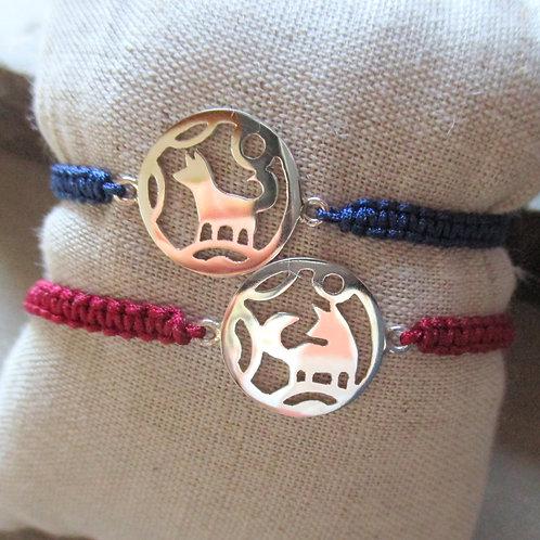 Bracelet Mangetsu / macramé, bracelet japonais