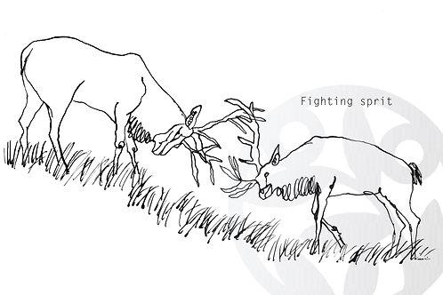 """dessin à télécharger """"Deux cerfs"""""""