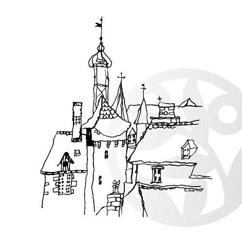 """dessin à télécharger """"Maisons Salers"""""""