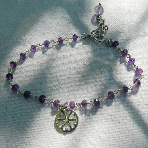"Bracelet ""Améthyste + Flocon"""