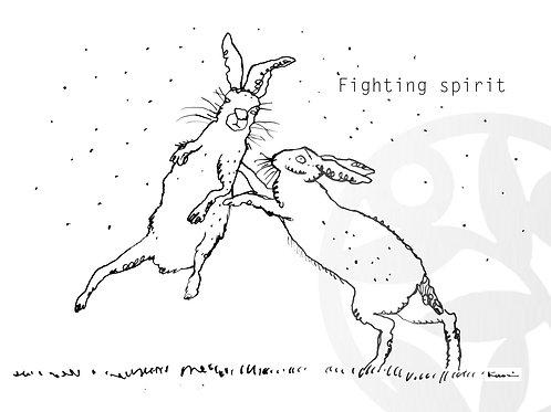 """dessin à télécharger """"Deux lapins"""""""