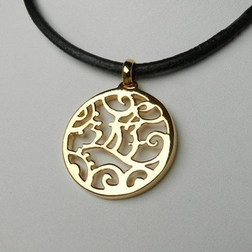 "Pendentif ""遊Yû"" ( plaqué or ), pendentif japonais"