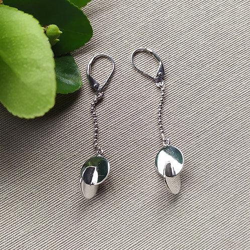 """Boucles d'oreilles """"Pour un Nouveau Monde (90°)"""""""