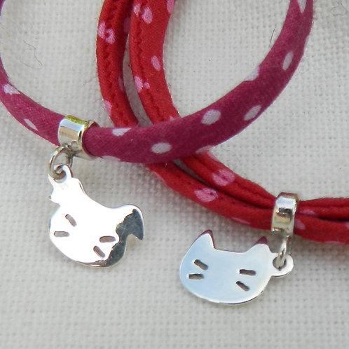"""Bracelet Kawaï """"Chien ou Chat"""""""
