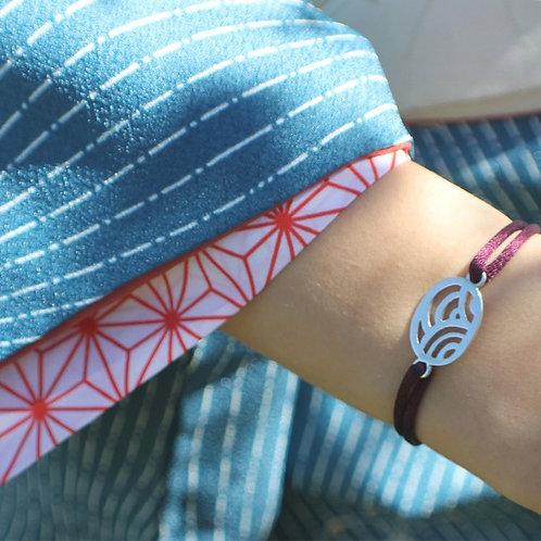 """Bracelet """"Vagues Japonaises"""", bracelet japonais"""