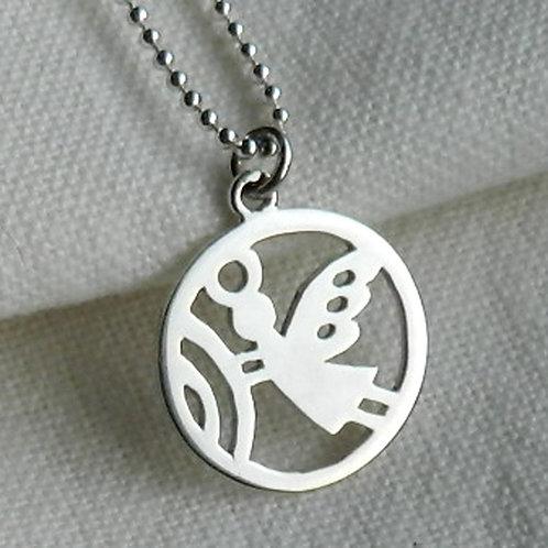 "Pendentif -Mangetsu ""Petit Ange"", pendentif japonais"
