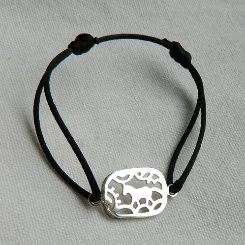 "Bracelet Kirié ""Cheval Sauvage""(rectangle)"