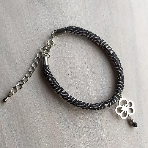 """Bracelet """"Fleur de prunier""""(inox), bracelet japonais"""