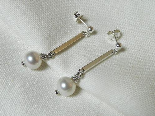 """Boucles d'oreilles""""Perles avec Tiges Carrées"""""""