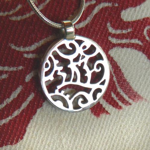 """Pendentif """" 遊Yû"""" (argent), pendentif japonais"""