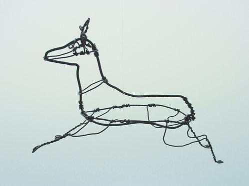 Animaux en fil de fer - Chevreuil (en fil noir)