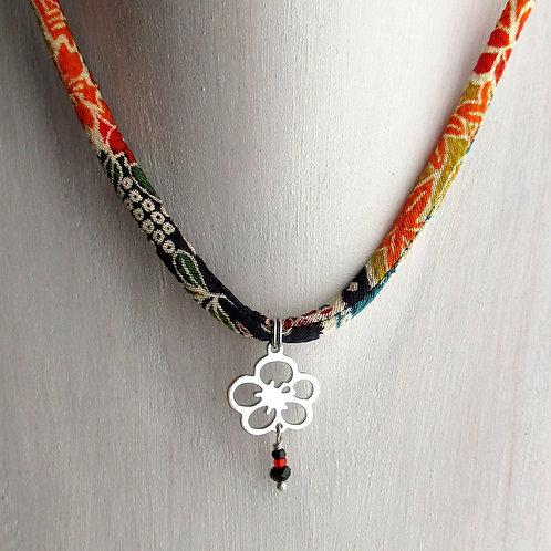 """Pendentif """"Fleur de Prunier""""(inox), pendentif japonais"""