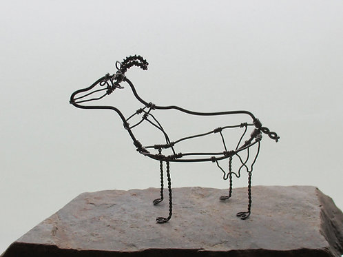 Animal en fil de fer - Chèvre (en fil noir)