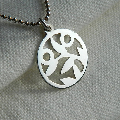 "Pendentif - Mangetsu ""Plante Lune Soleil"", pendentif japonais"