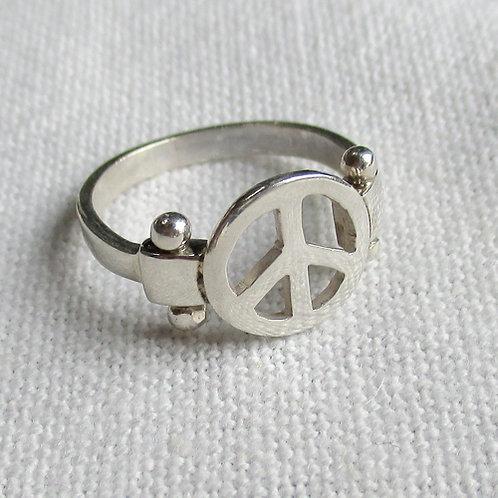 """Bague """"Peace & Love"""" 01"""