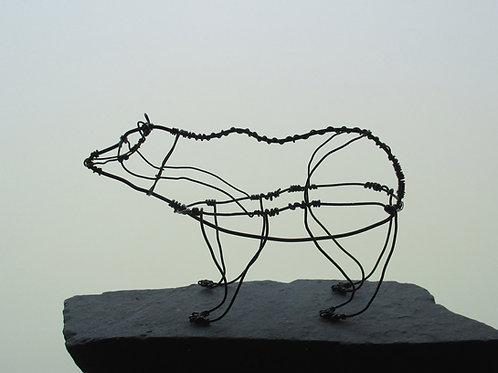 Animaux en fil de fer - Ours (en fil noir)