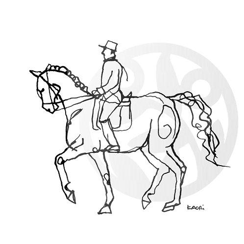 """dessin à télécharger """"Cavalier et cheval"""""""