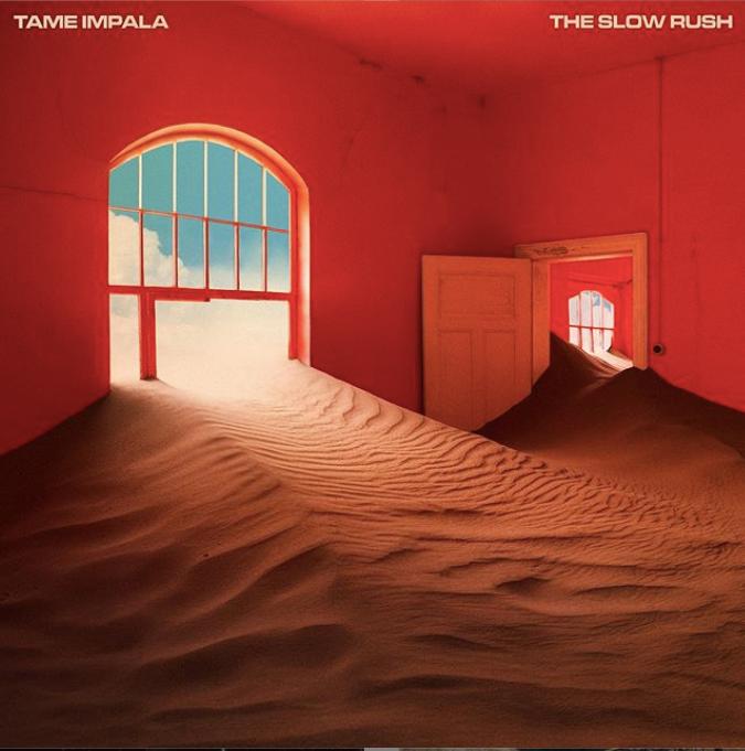 Imagem do novo disco do tame impala, teh slow rush