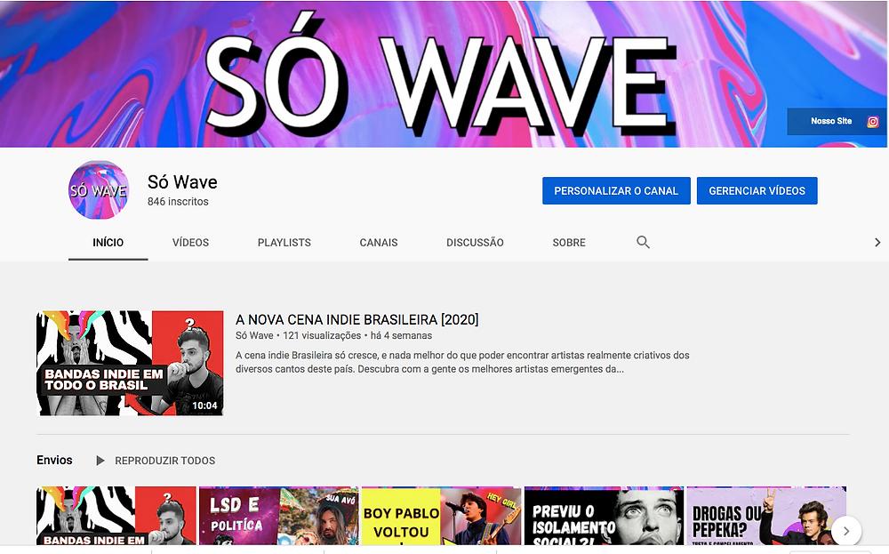 canal da só wave no youtube