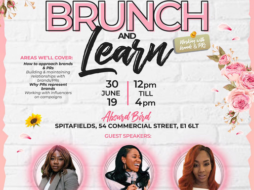 GIRLS IN POWER BRUNCH AND LEARN 30/06/19