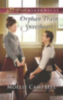 Orphan Train Sweetheart, Historical Inspirational Fiction by Mollie Campbell