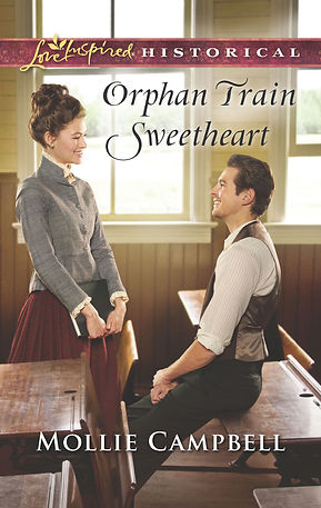 Orphan Train Sweetheart, Historical Inspiraional Fiction by Mollie Campbell