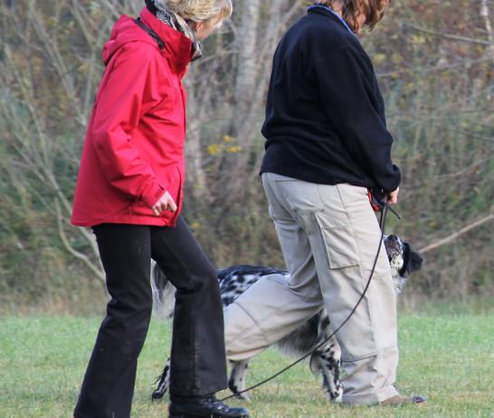 Beobachtung beim Fußgehen durch die Dozentin