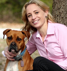 Dr. Carey Bailey and her Boxer, Jorja.