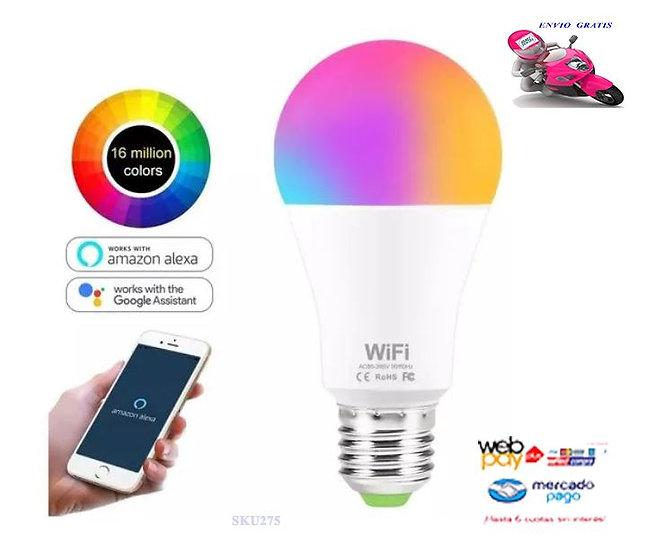 Ampolleta Alexa Google Led Smart Wifi Inteligente Colores