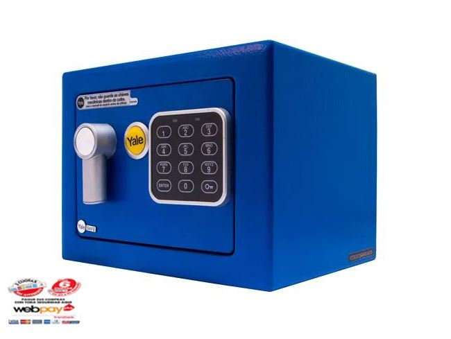 Caja De Seguridad Yale Mini Azul 4,2 Lts.