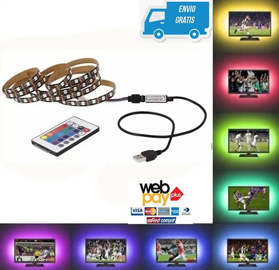 Cinta Led Rgb Multicolor Usb Televisor Tiktok + Control