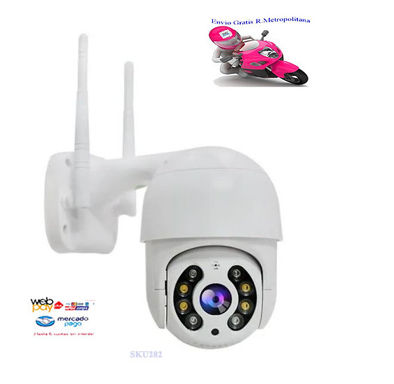 Mini Cámara Ip Wifi Exterior Inalámbrica 1080p Hd-n8-200w-ir