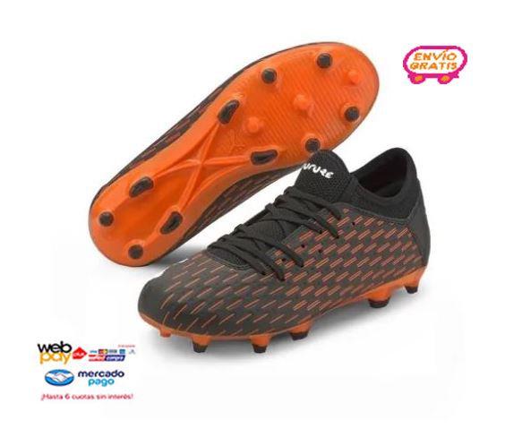 Zapato De Futbol Puma Future 6.4 Fgag Negro Jr Niño
