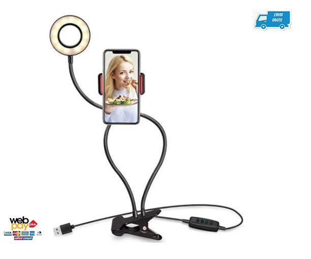 Anillo Aro Luz Led 8 Cm De Mesa Teléfono Selfie Fotografía