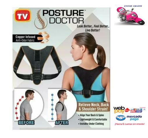 Corrector Postural Lumbar Espalda Y Cervical Mujer Y Hombre