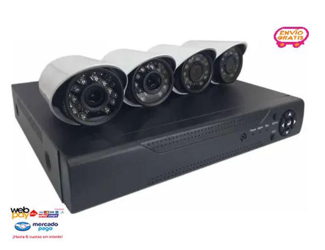 Kit 4 Cámaras Seguridad Full Hd 1080p Con Dvr