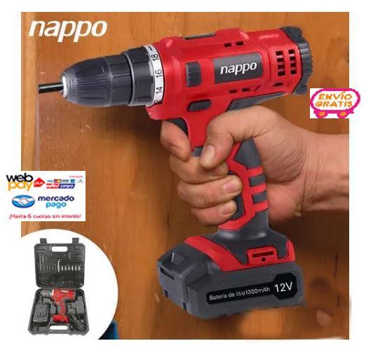 Taladro Inalambrico Nappo Nhk-054 12v Con Accesorios Loi Chi